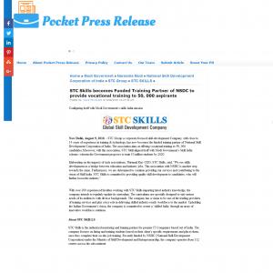 Pocket press release